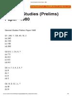 General Studies (Prelims) Paper- 1980