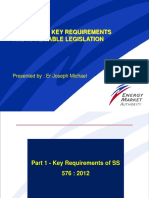 SS 576 2012 - Key Requirements and Applicable Legislation by Er Joseph Michael