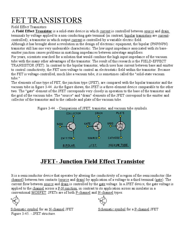 Fet Field Effect Transistor Mosfet