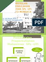 Membaca Praperkuliahan SPs UPI 2013