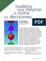Tres Modelos Para Mejorar La Toma de Decisiones