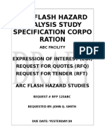 20 - Arc Flash Study Specification