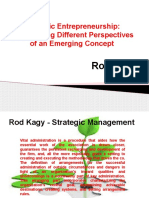 Rod Kagy - Good Strategic Entrepreneurship