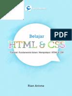 Belajar HTML Dan CSS - Tutorial Fundamental Dalam Mempelajari HTML Dan CSS