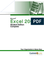 Custom Guide Microsoft Office Excel 2003