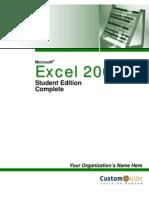 Custom Guide Microsoft Office Excel 2003