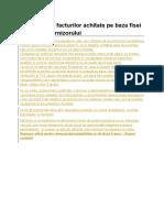 Inregistrarea Facturilor Achitate Pe Baza Fisei Analitice a Furnizorului