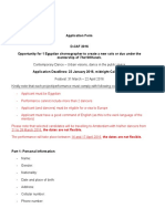 Call for Choreographers Application Form