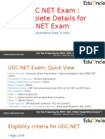 CBSE UGC NET Exam details
