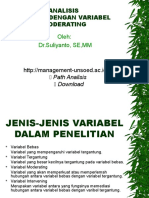 Analisis Regresi Dengan Variabel Moderating Dan Intervening 20091