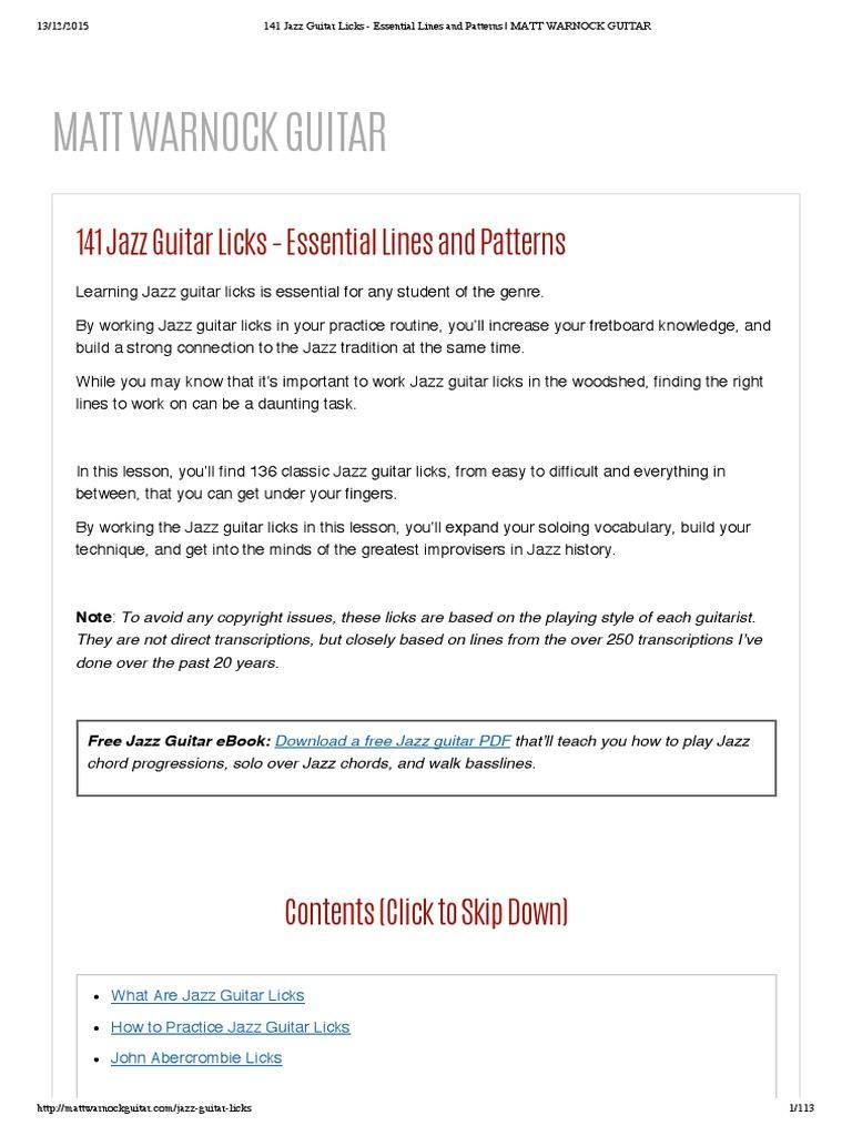 141 Jazz Guitar Licks - Essential Lines and Patterns _ MATT