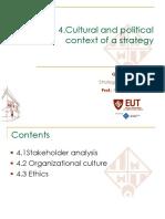 Topic 4 Cultural and Political Context - Def