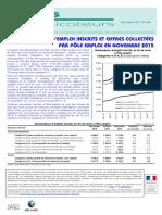 Les chiffres du chômage en France - Novembre 2015