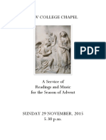 2015 Advent Service