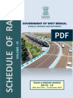 Pwd Schedule-Schedule of Rates of PWD (W.B) 2015 for Road Bridge Work (Vol-III) Wef 01 .12 .2015