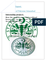 Internship Report of SBP by Muhammad Hamza FA11 BBA(8) 065