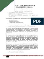 1C Pilares de La Modernización de La Gestión Pública