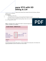 Inter-company STO With SD Delivery, Billing & LIV