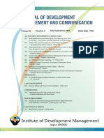 SMART CITIES Journal of Development Management & Communication JDMC, Jaipur July-Sept., 2015
