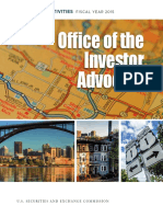 Sec Investor Advocate Report on Activities 2015