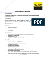 Self Empowerment Workshop Outline