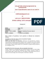 QM0021 Statistical Process Control