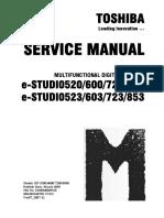 Service Manual e-studio 520-523-600-623-720-723-850-853
