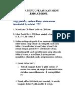 Petunjuk Pengoperasian Menu lewat CD ROM