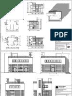 Ricostruzione a cad del Padiglione Della Comunità Autonoma Degli Artigiani a Torino - Sartoris 1927-28