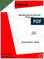 Programa Derecho Introducción Al Derecho Procesal 2015-2106.PDF