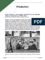Clifton Ross - Carta Abierta a Mis Amigos Chavistas en USA y Venezuela