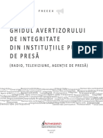 Ghidul Avertizorului de Integritate Din Institutiile Publice de Presa