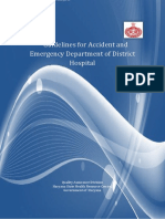 Guidelines for Accident and Emergency Department