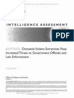Domestic Violent Extremists Pose Increased Threat To Government Officials and Law Enforcement