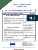 Prova Agente  Comunitário de saude- ACS Prova Agente  Comunitário de saude- ACS