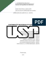 Contaminação microbiana de superfícies