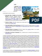 Universidad de San Carlos de Guatemala Historia