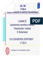 Advances in construction material