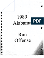 1989 University of Alabama Run Offense