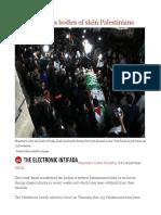 Israel Transfers Bodies of Slain Palestinians