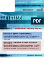 Sistem Memori dan Pemrosesan Informasi