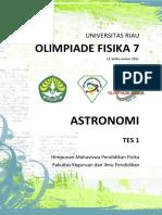 Soal Olimpiade Astronomi OF7
