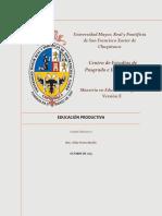 Unidad Didáctica II Ed Productiva