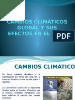 Cambios Climáticos Global y Sus Efectos en El