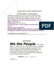 The Constitution of the United States We the People