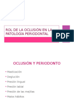 Rol de La Oclusion en La Patologia Periodontal