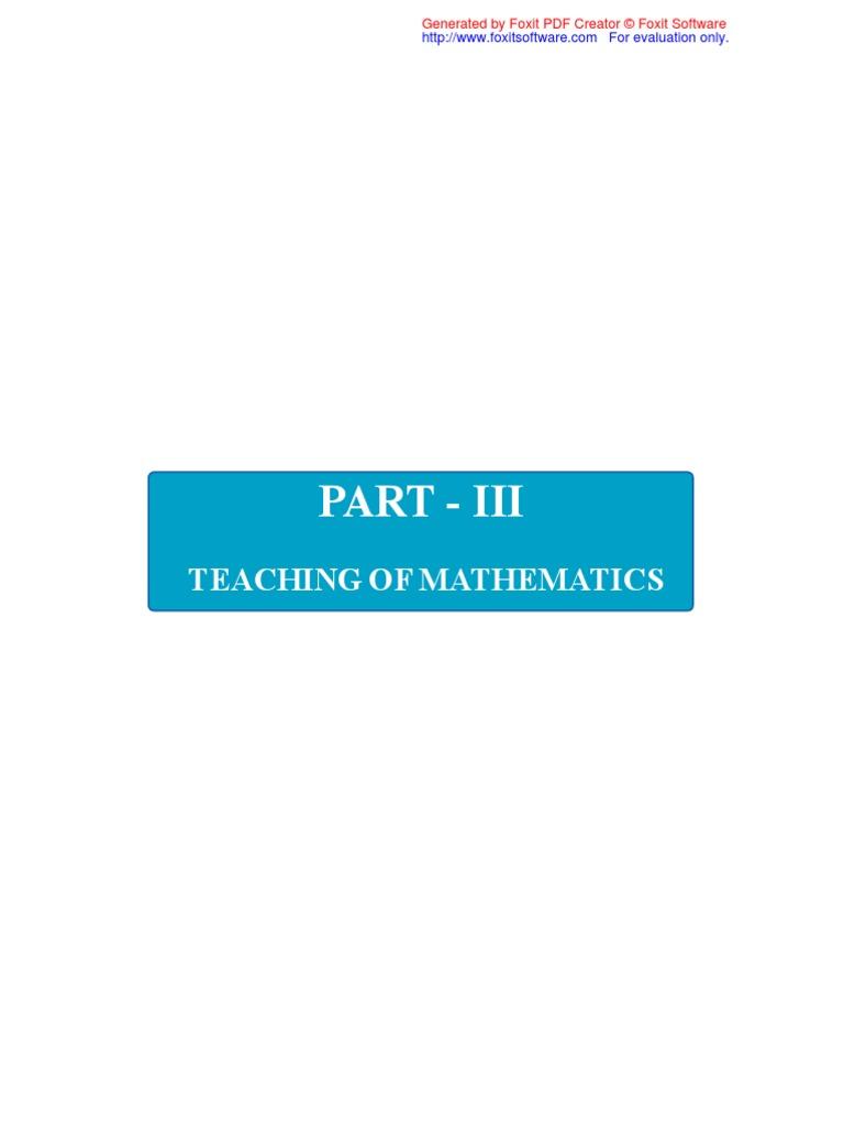 Ncert Maths Module | Division (Mathematics) | Numbers