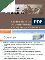 Leadership in CrisisSir Ernest Shackleton and the Epic Voyage of the Endurance _By Venkataraman K