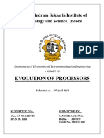 Report on evolution of processor