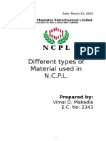 Materials Used at Ncpl
